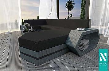 Designer Outdoor Möbel amazon de nativo luxus gartenmöbel rattan lounge sofa clermont xl