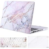 Mosiso Funda Dura Compatible MacBook Pro 13 Pulgadas con CD-ROM A1278 (Versión 2012-2008), Carcasa Rígida de Plástico & Cubierta de Teclado (USA Versión) & Protector de Pantalla, Mármol Colorido