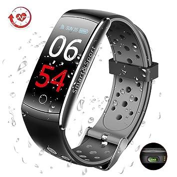 GLAMSVILL Montre Connectée Fitness Tracker Santé et Fitness Smartwatch Affichage décran Couleur Smart Bracelet