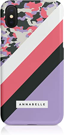 12 - Light Pink Tirita Personalised Custom Initials Hard Phone Case//Cover compatible with iPhone 12 Pro Max Camouflage Camo Pattern