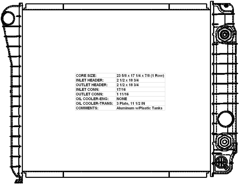 ACDelco 20681 GM Original Equipment Radiator 20681-ACD