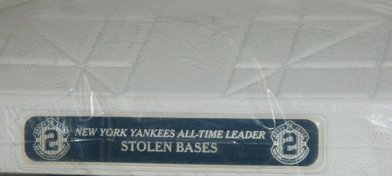 Derek Jeter Autographed Signed Base Yankees Game Issued Jewel Base MLB Awards Steiner MLB