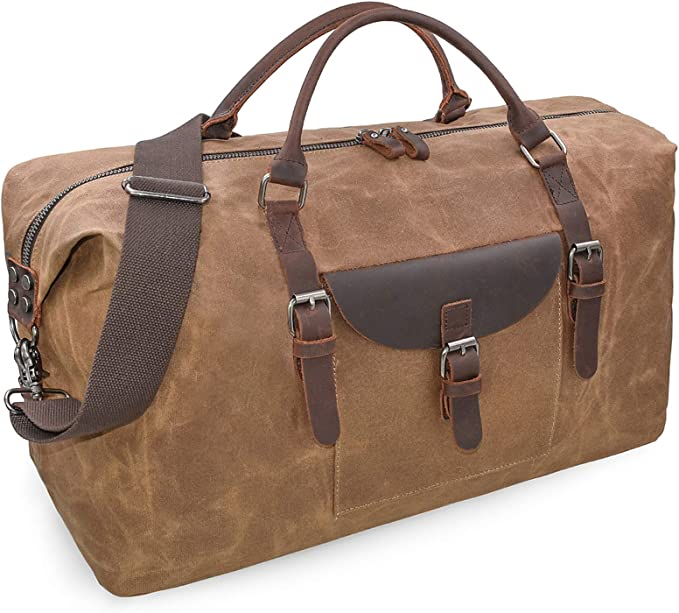 Tan Leather Duffle Bag  Men Small Shoulder Travel Weekender Gym Sports Carry On Custom Monogram Gift Handmade Overnight Clothes Holdall