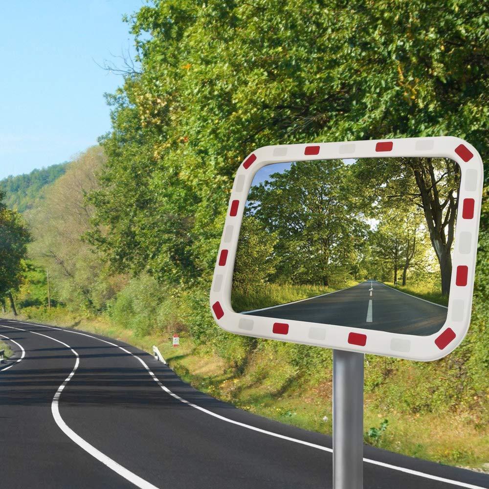 Specchio convesso di segnalazione e la sicurezza 80x60 cm rettangolare PrimeMatik