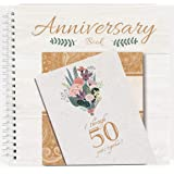 Wedding Anniversary Book - A Hardcover Journal To Document Wedding Anniversaries From The 1st To the 50th Year - Unique Coupl