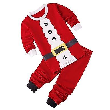 TOOGOO(R))) Conjuntos de Ropa de Navidad para bebeRopa de ninos Chaqueta + Pantalones Papa Noel(24M=90CM): Amazon.es: Ropa y accesorios