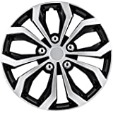 """Pilot Automotive WH553-16S-BS Black/Silver 16 Inch 16"""" Spyder Performance Wheel Cover 