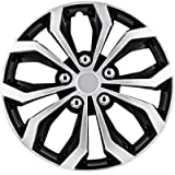 Pilot Automotive WH553-14S-BS Black/Silver 14 Inch 14' Spyder Performance Wheel Cover | Pack of 4 | Fits Toyota…