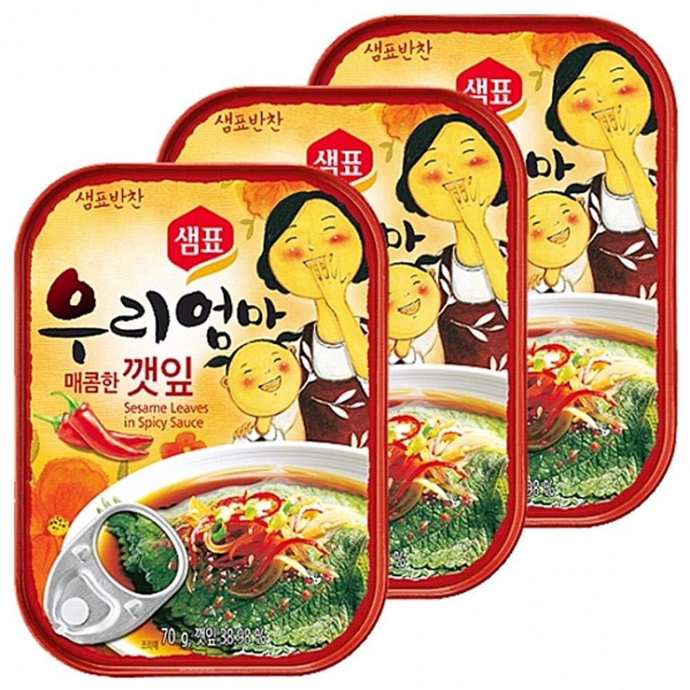 Sempio Hot Sesame Leaf 70g x 15 packs 매콤한 깻잎