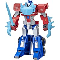 Transformers Toys Bumblebee Cyberverse Adventures Dinobots Unite Roll N' Change Optimus Prime Push-to-Convert Action…