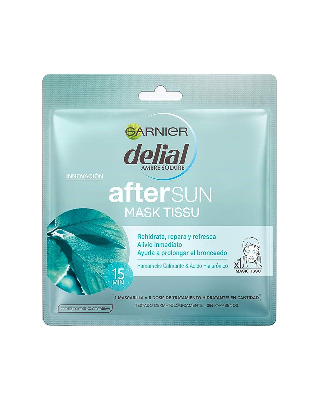 Garnier Delial After Sun Mascarilla Hidratante Calmante Mask Tissue - 10 paquetes