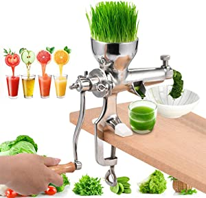 Stainless Steel Wheat Grass Wheatgrass Manual Hand Juicer Health Juice Extractor