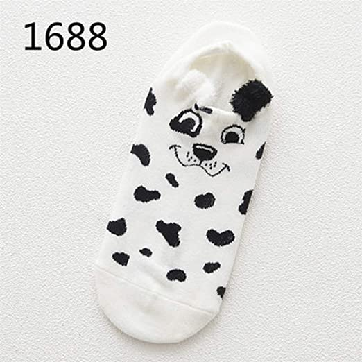 Cute Animal Cotton Socks Female Kawaii Cat With Dog Summer Short Socks,1688