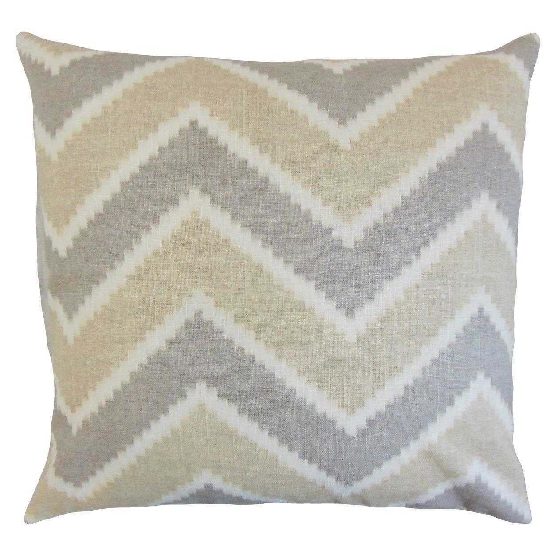 The Pillow Collection Hoku Zigzag Bedding Sham Jute Euro//26 x 26