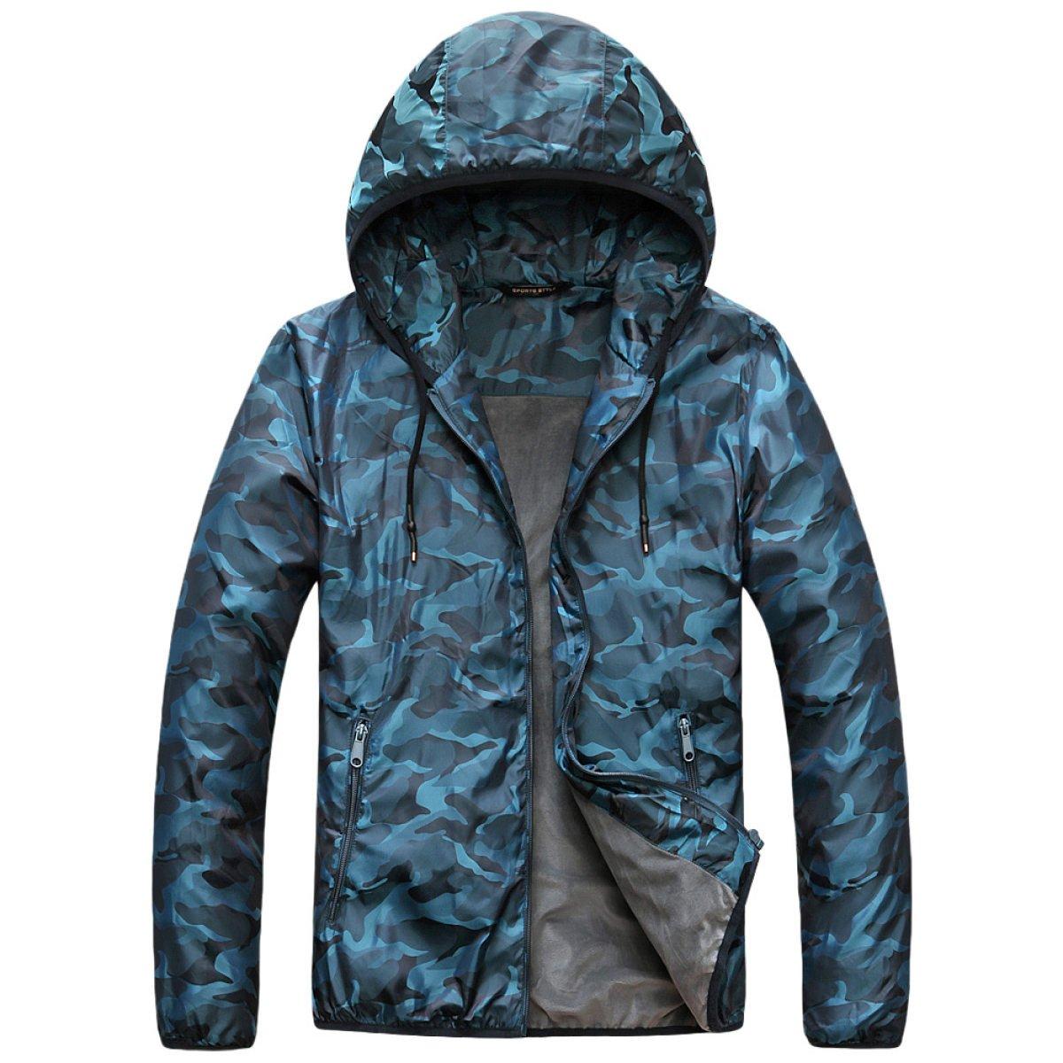 Shuang Yu Zuo Männlich Herbst Mantel Paar Modelle Haube Wind Sonne Atmungsaktiv Warme Camouflage Outdoor