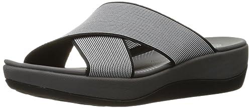 efde777e6 Clarks Women s Arla Elin Sandal Black White  Amazon.co.uk  Shoes   Bags