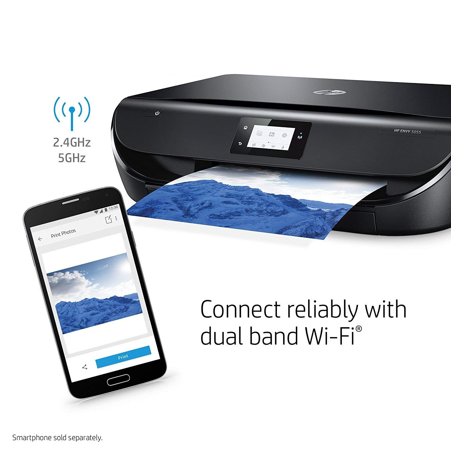 HP Envy 5055 Wireless All-in-One Photo Printer, HP Instant Ink & Amazon Dash Replenishment Ready (M2U85A) (Renewed) by HP (Image #9)