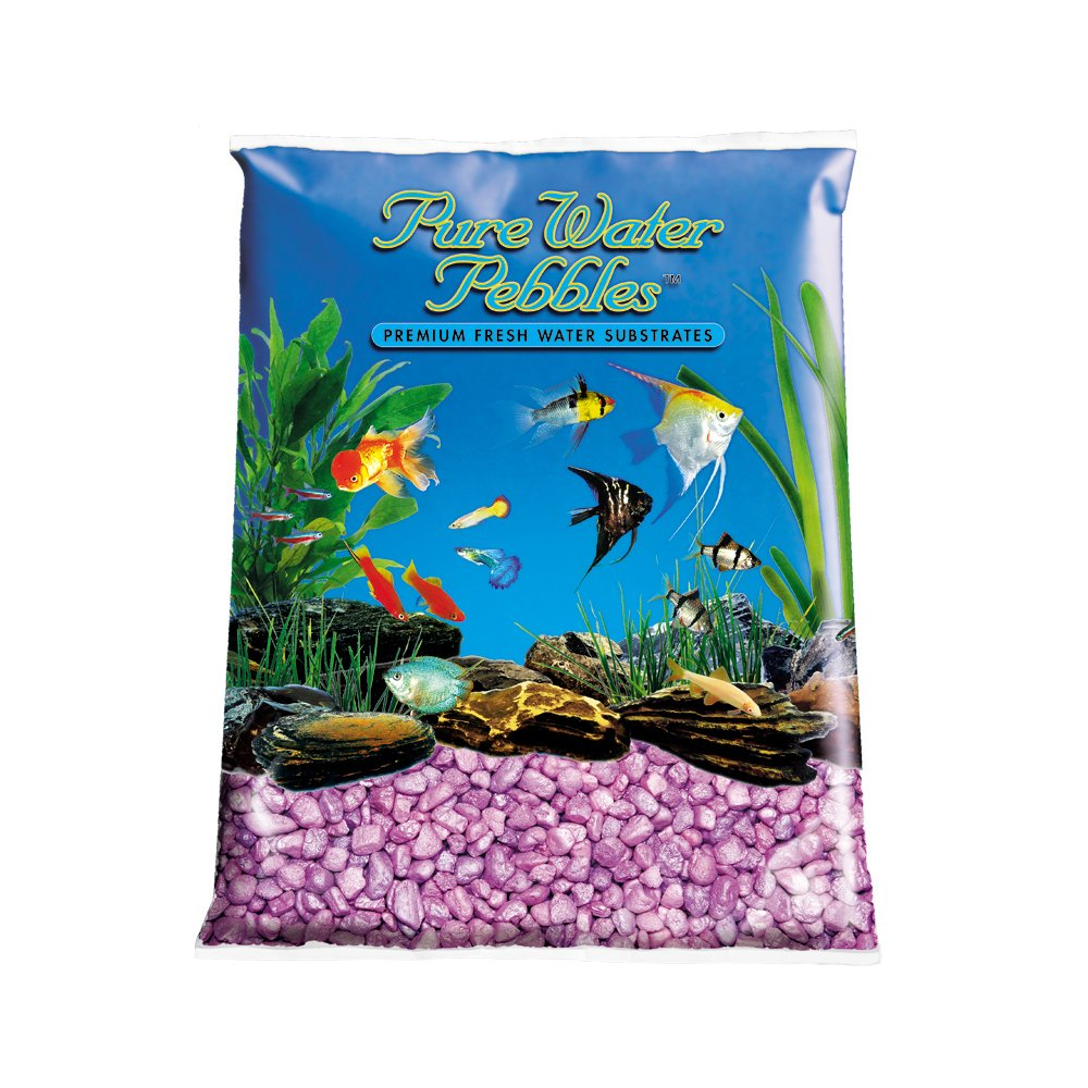 Pure Water Pebbles Aquarium Gravel, 25-Pound, Lavender Frost
