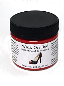 46567f88dcb9 Amazon.com  Walk On Red Bottom Coat   Restorer Angelus Brand Acrylic  Leather Paint for Christian Louboutin Heels Only Contents  (2 fl. oz   60  ml)  Arts