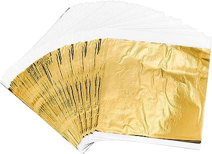 como Hoja De Oro 1000 Hojas Chapa De Metal Oro De Imitación Color 2,5 16cmx16cm
