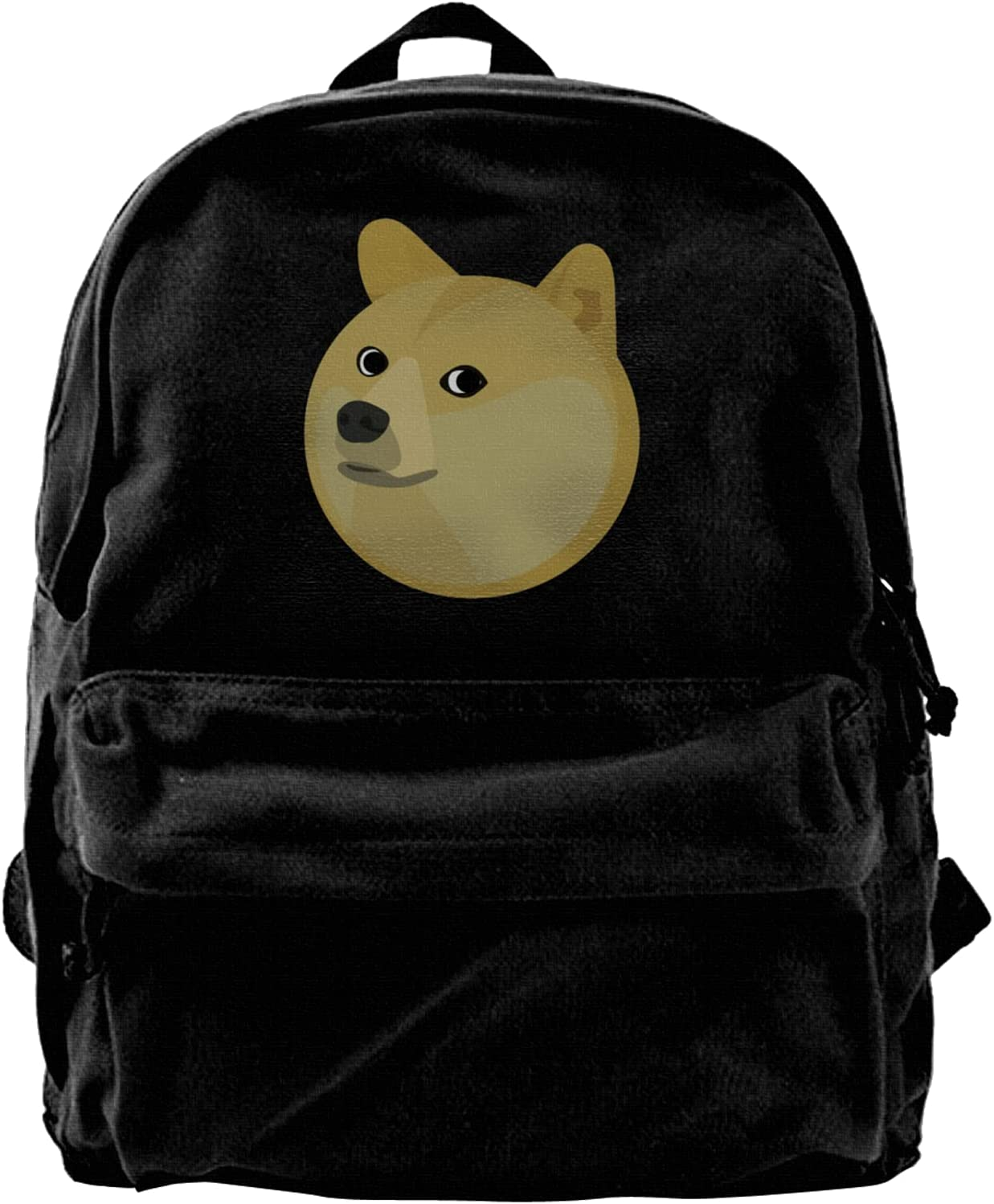 Doge Travel Laptop Backpack Lightweight Canvas Backpack Classic Strong Wear Computer Bag