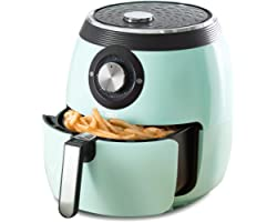 Dash Deluxe Electric Air Fryer + Oven Cooker with Temperature Control, Non-stick Fry Basket, Recipe Guide + Auto Shut Off Fea