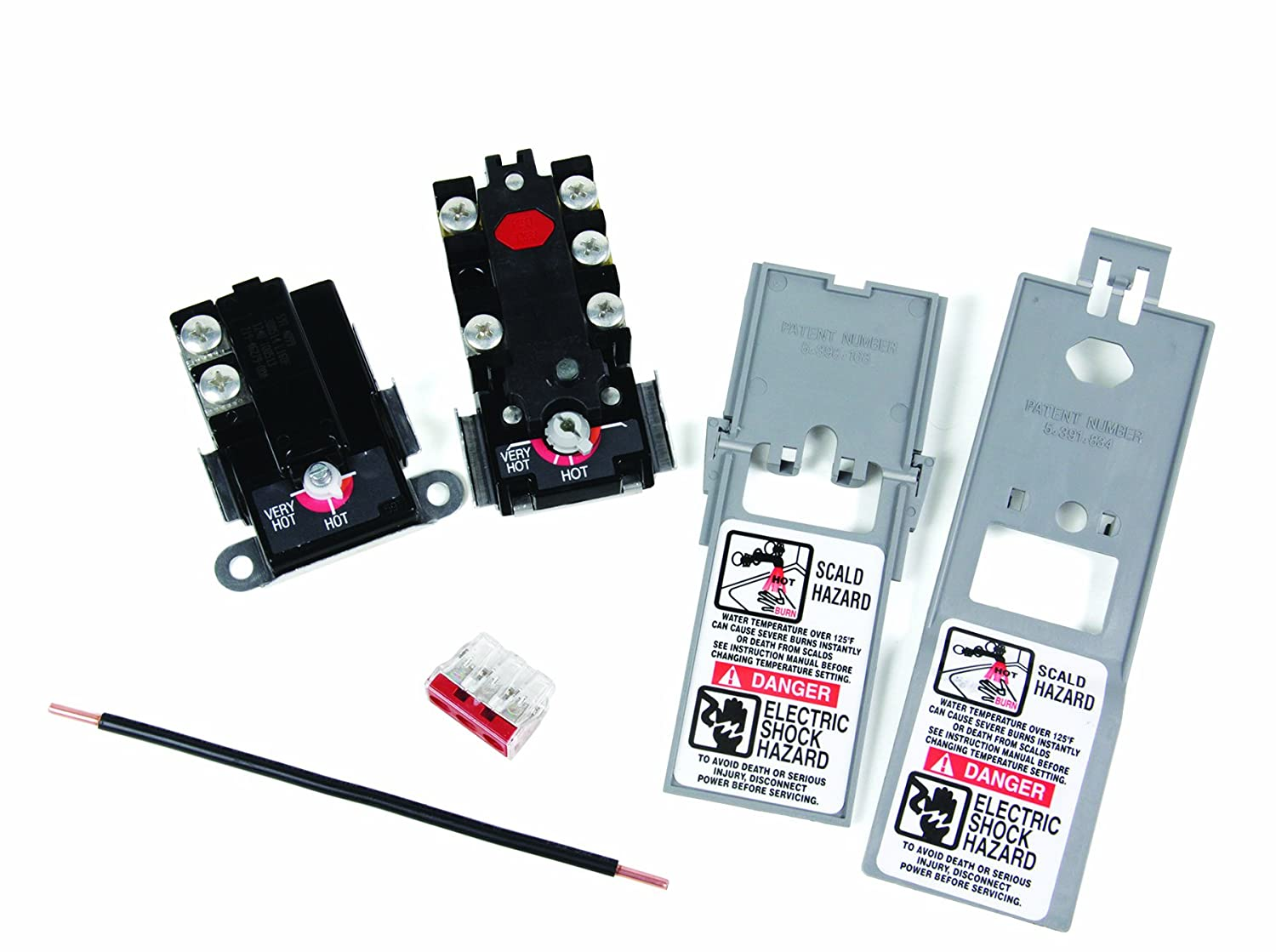 Camco 08130 Therm O Disc Style Upper Lower Thermostat Wiring Diagrams Kit With Jumper Wire Automotive