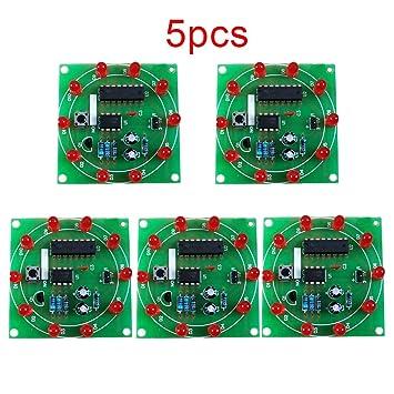 Pinzhi LED electrónico Lucky Tocadiscos Kit (1pcs) 5pcs: Amazon.es ...