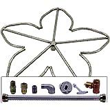 Spotix Penta HPC Match Lit Fire Pit Burner Kit, 24-Inch Burner, Natural Gas, Pol