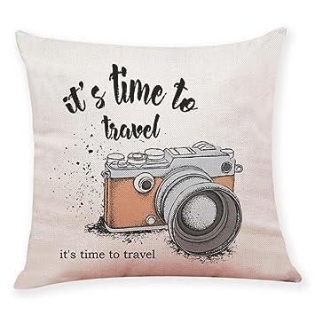 Amazon.com: Cámara Horizontal funda de almohada, vovomay ...