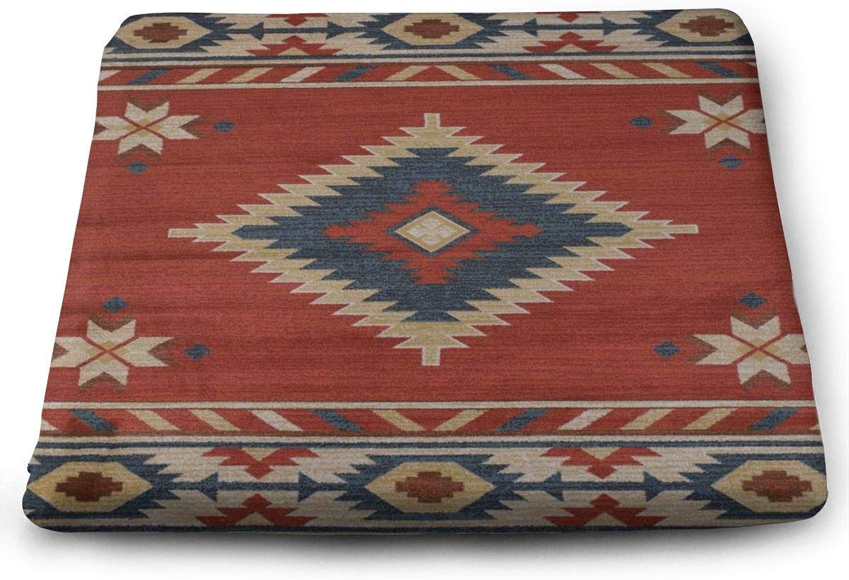 Nicokee Southwest Native American Chevron 3 Seat Cushion Non Slip Memory Foam Chair Seat Cover Pads for Dining Room Kitchen Office Car 15 Inch X 13.7 Inch