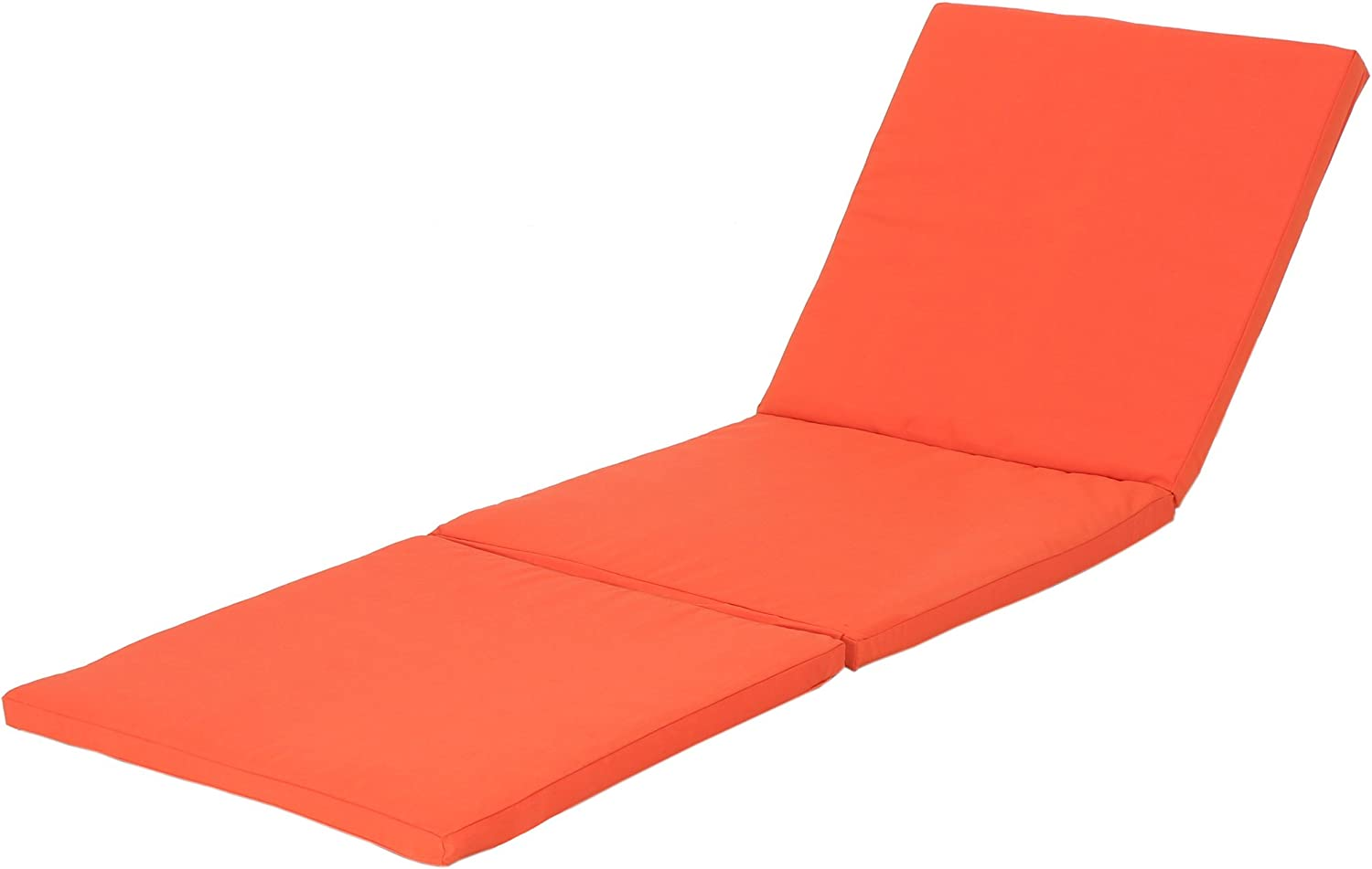 Christopher Knight Home Jamaica Outdoor Water Resistant Chaise Lounge Cushion, Orange