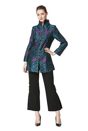 8d5bd8f2d Amazon.com: Bitablue Women's Chinese Brocade Standup Collar Jacket ...