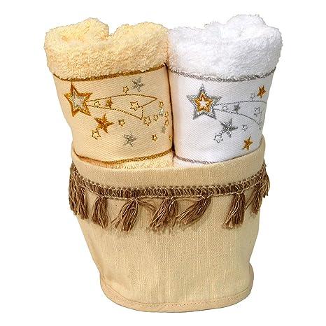 Pack de 2 Navidad Terry paños de cocina toallas de té de plato Ref. Star