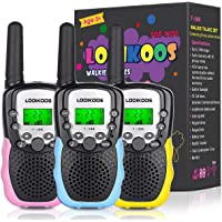 LOOIKOOS Walkie Talkies for Kids, 3 KMs Long Range Children Walky Talky Handheld Radio Kid Toy Best Gifts for Boys and…