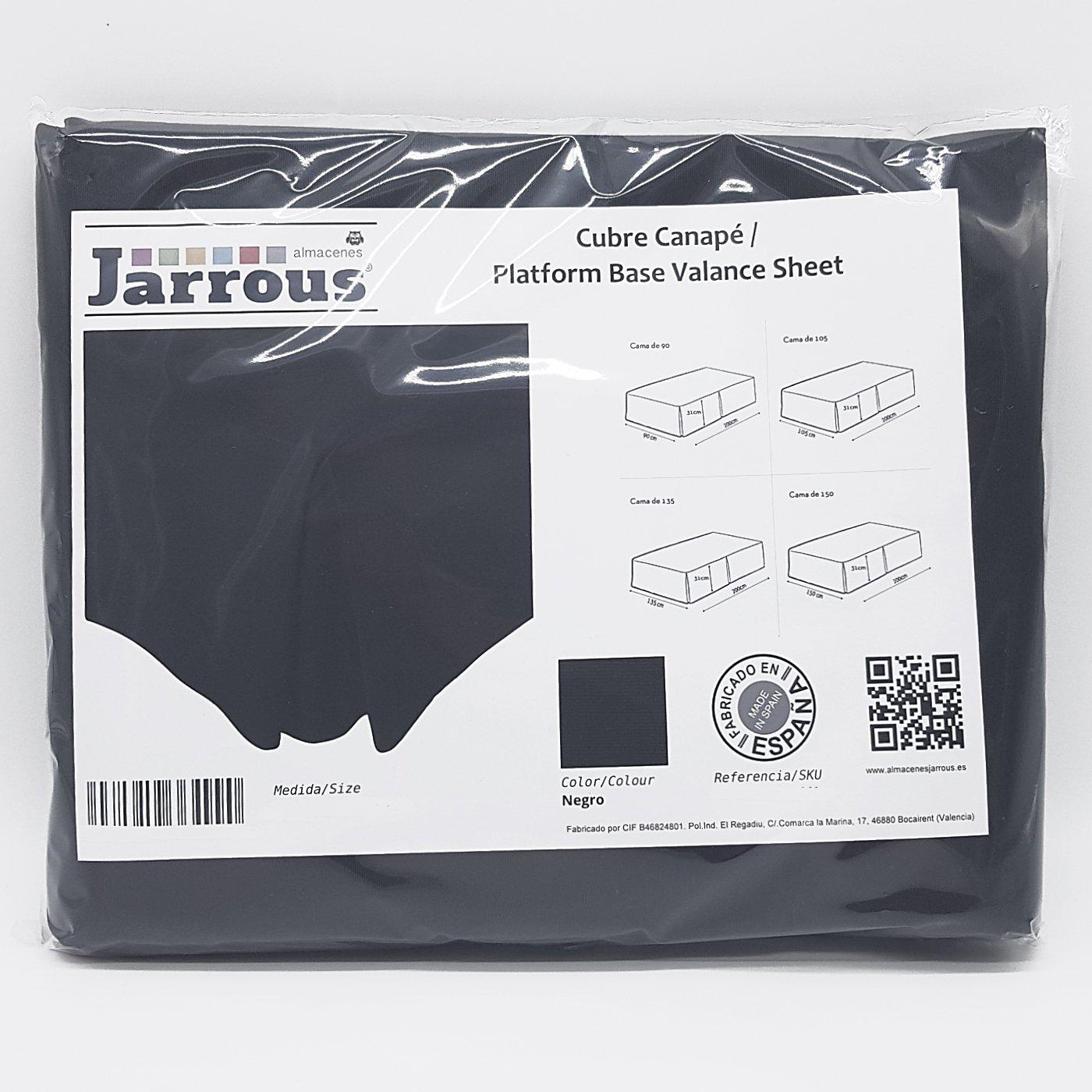 Jarrous Cubre Canapé Modelo Pierre, Color Negro, Medida para Cama de 90: Amazon.es: Hogar
