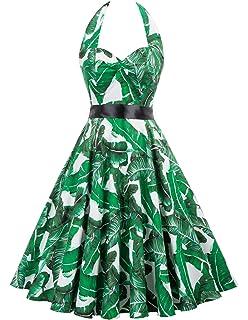 cdfc3f1b5c8a9 Amazon.com: DRESSTELLS 50s Retro Halter Rockabilly Bridesmaid Audrey ...