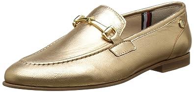 Tommy Hilfiger D1285oris 1z, Mocasines para Mujer, Dorado (Gold 023), 36