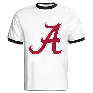 dc75e664 Image Unavailable. Image not available for. Colour: Alabama Crimson Tide  Logo Men's Color Block T Shirt Unique Fashion