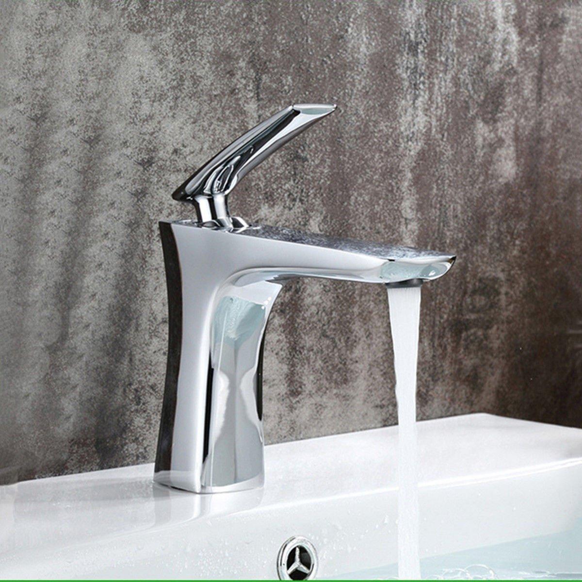 Hlluya Wasserhahn für Waschbecken Küche Die Messing Chrom Art Wasserhähne   Waschbecken Waschtisch Armatur   Badezimmer Waschbecken Kaltes Wasser   Waschbecken, Waschbecken Waschtisch Armatur