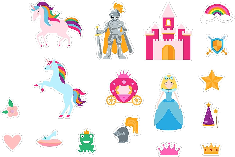 Multi /Fantasy World Unicom Enfant Jouet de Bain Barney et Buddy Ba050/Stickers/