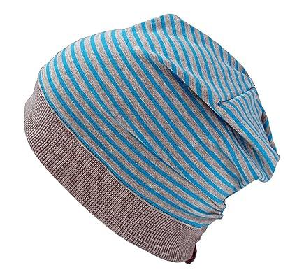 Woll Poule Öko Bonnet Turquoise/Gris Rayures (en matériaux certifié ...
