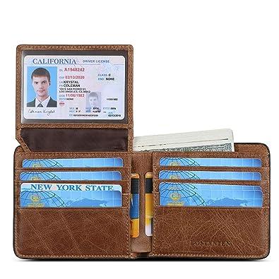 Amazon.com: BOSTANTEN billetera de piel auténtica para ...