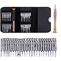 Precision Screwdriver Set, TERSELY Mini Screwdrivers 25 in 1 Repair Tool Kit for Mobile Phone, PC, Laptop, MacBook, Tablet, iPad, Glasses, Watches (Chrome Vanadium Steel)