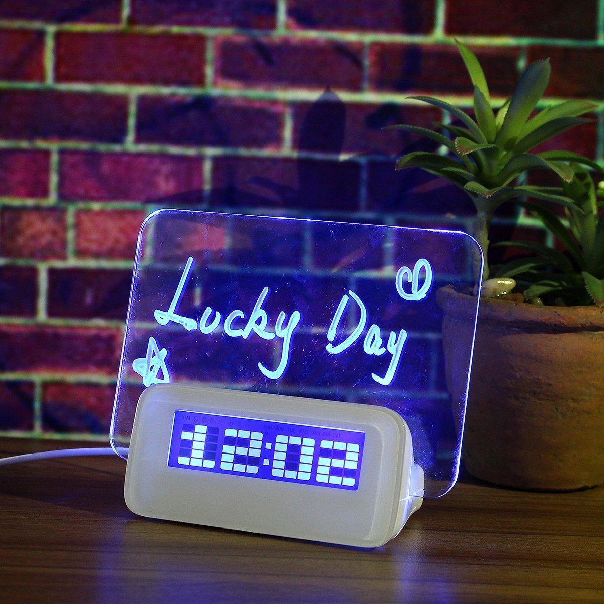 sveglie electrónicos regalo despertador + pluma del mensaje ...