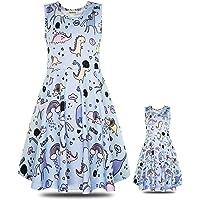 ModaIOO Matching Dolls & Girls Casual Dress