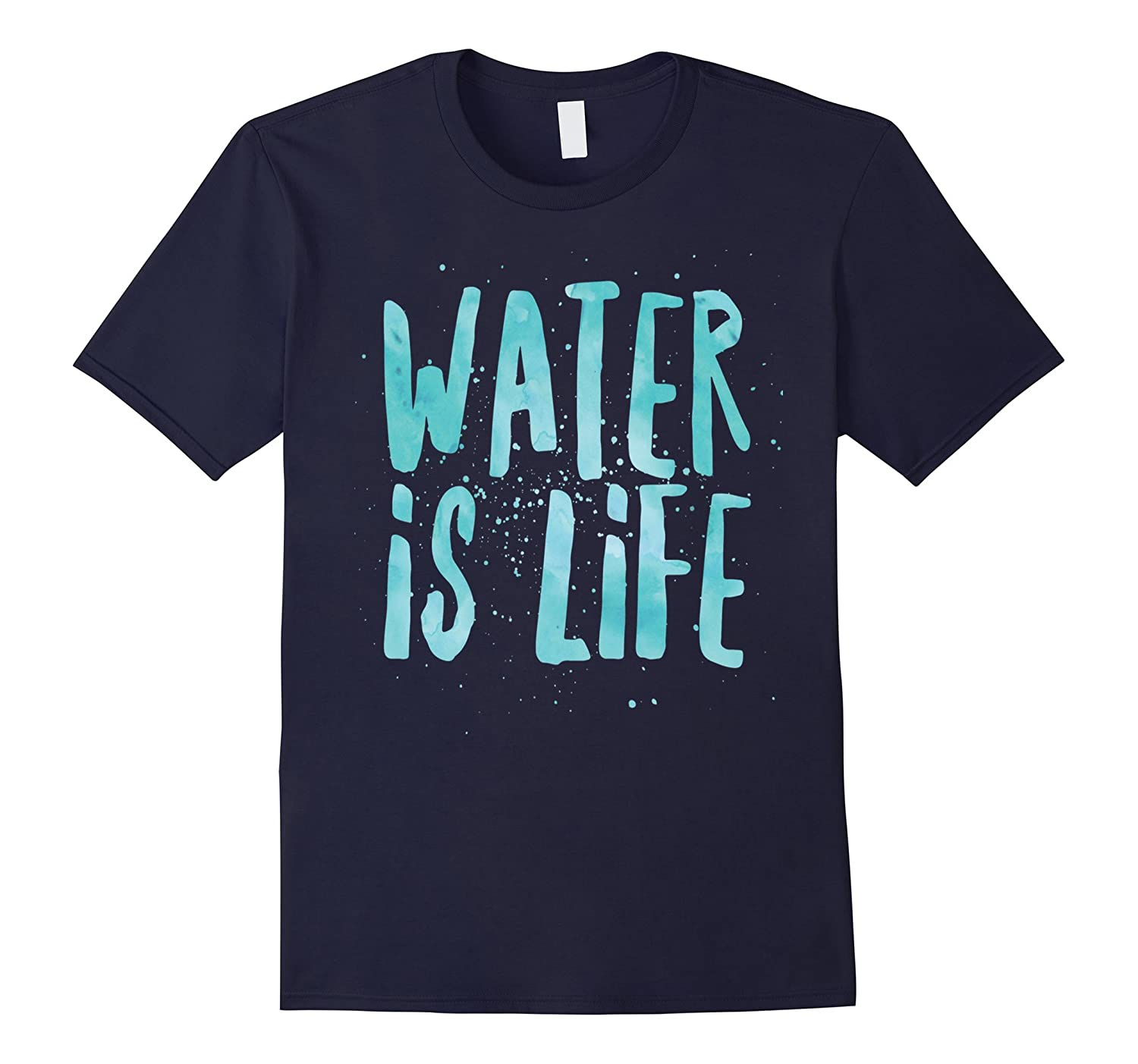 Water Is Life Standing Rock Anti DAPL Rezpect Native Shirt-BN
