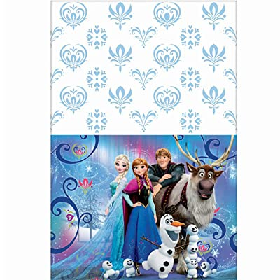 "Frozen Plastic Table Cover, 54 x 96"", Party Supplies: Toys & Games"