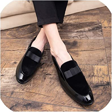 Oxford Mens patent leather slip on loafer pointy toe dress formal flat shoes New