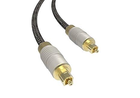 Xbox y m/ás 5M EMK cable de fibra /óptica para Home Theater Cable de audio /óptico digital Toslink nailon trenzado chaqueta, durable y flexible barra de sonido PS4 TV